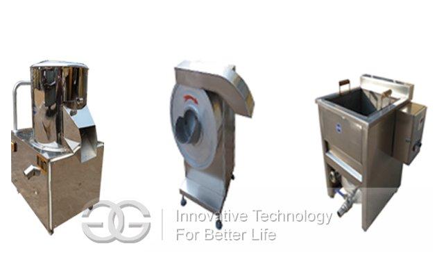Commercial Finger Potato Chips Processing Line