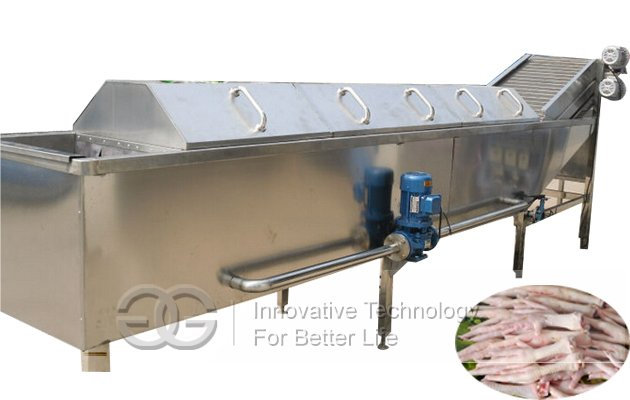 Hot sale Stainless steel Larger model Chicken Poultry Feet Blanching Machine