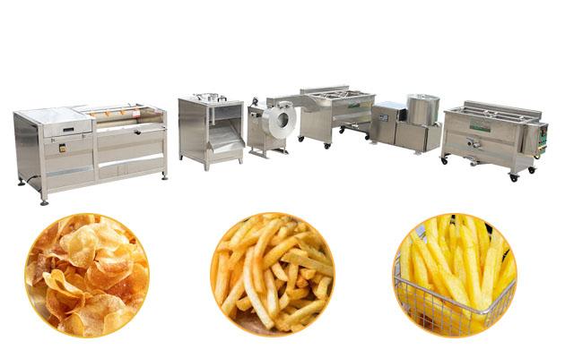 Small Scale Semi-automatic Potato Chips Production Line