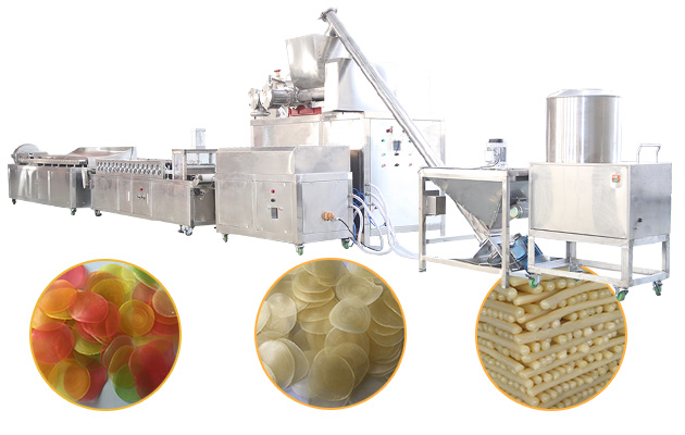 Shrimp Crackers Production Line|Prawn Cracker Making Machine|Krupuk udang