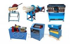 High Productivity Bamboo Wood BBQ stick machine Complete Make Line
