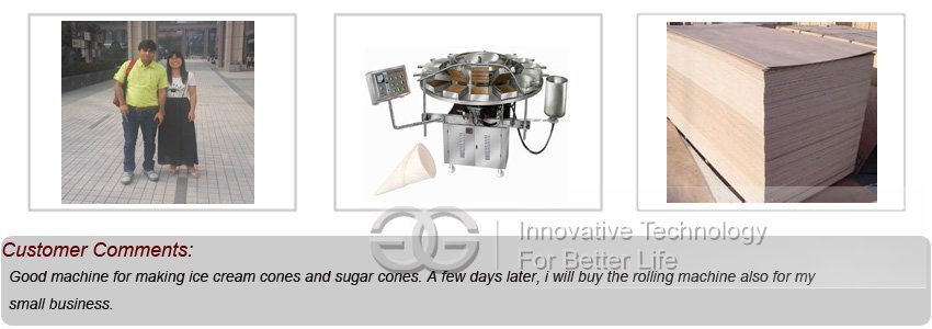 Ice Cream Cone Machine Customer