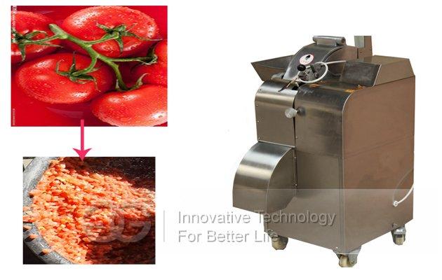 Tomato Cuber Cutting Machine|Coconut Meat Cube Cutter