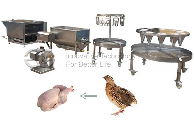 Small Model Commercial Quail Slaughter Mahcine