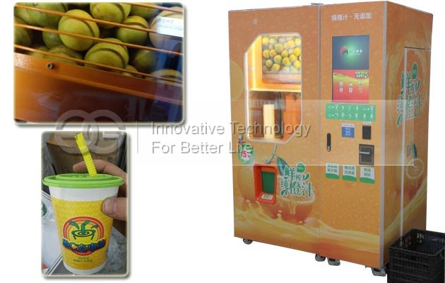 Advantages of GELGOOG Orange Juice Vending Machine