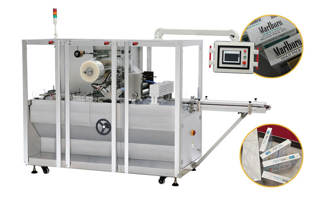 Automatic Cigarettes Box Cellophone Over Wrapping Machine Equipment