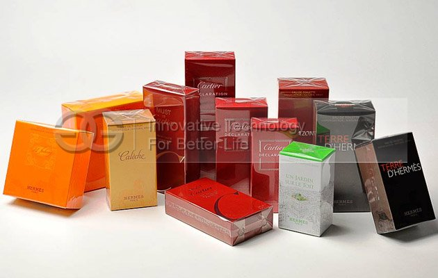 Automatic Cosmetics Cellophane 3D Packing Machine for Large Boxes