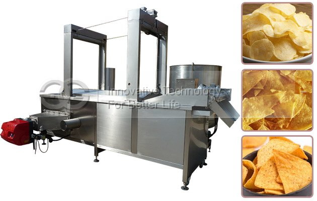 Continuous Snack Fryer Machine