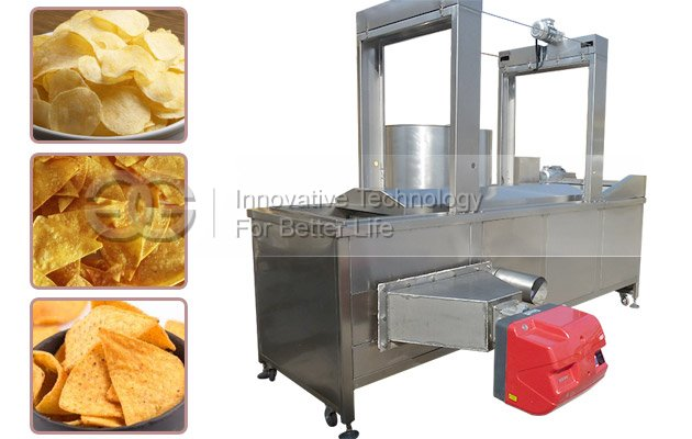 Continuous Batch Snack Fryer Machine for Sale