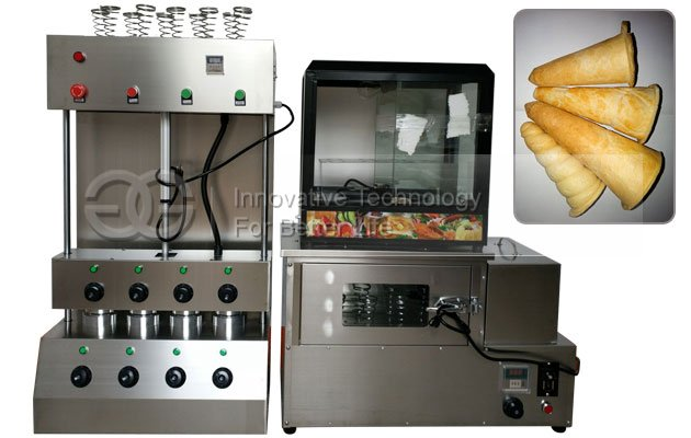 Conical Pizza Cone Making Machine and Oven