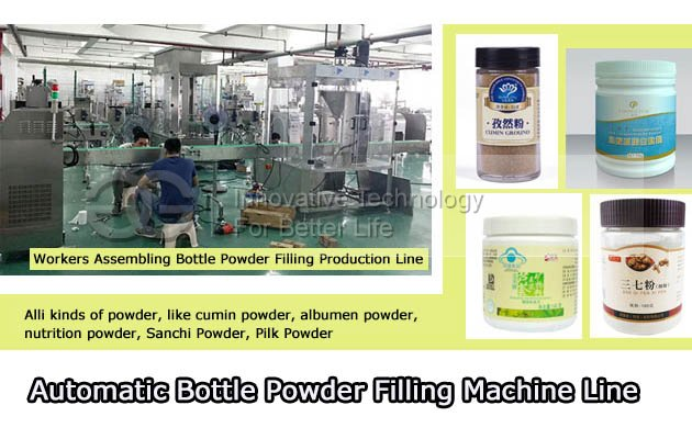 Bottle Powder Filling Production Line