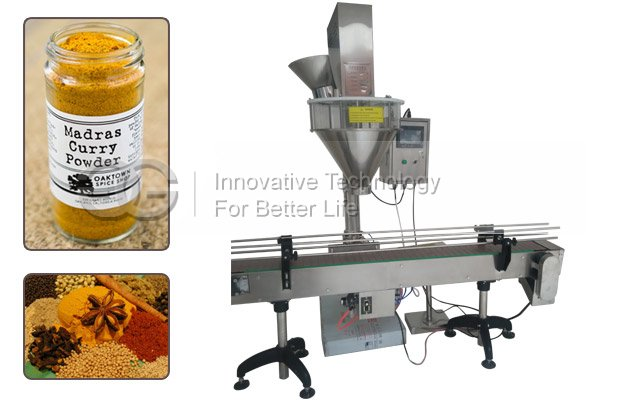 Automatic Bottle Curry Powder Filling Sealing Machine