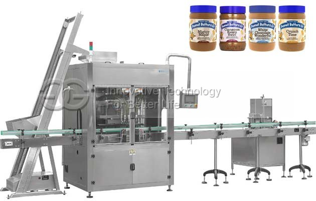Automatic Peanut Butter Filling Capping Machine