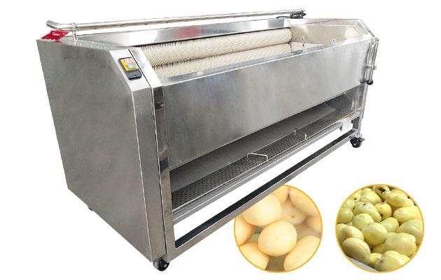 Industrial Potato Washing Peeling Machine with Brush Roller