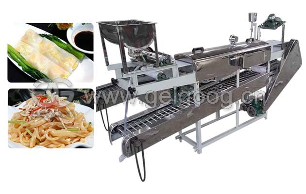 Vietnamese Steam Rice Noodle Roll Steamer Machine