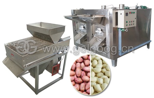 Peanut Frying Peeling Machine
